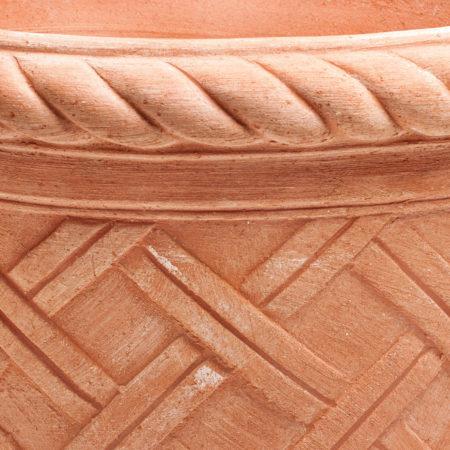 PT Siena doniczkaceramiczna bezowa okragla deseniowa glowne 1 450x450 - PT Siena <br>okrągła