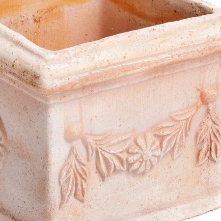 TI Storia doniczkaceramiczna bezowa kwadratowa licie kwiaty glowne 1 450x450 - TI Storia <br> kwadratowa