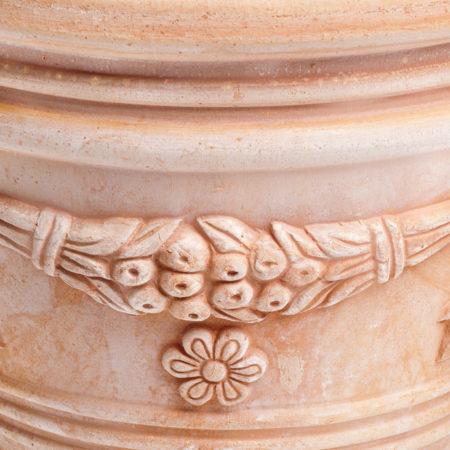 TI Storia doniczkaceramiczna bezowa okragla licie kwiaty glowne 1 450x450 - TI Storia <br> okrągła