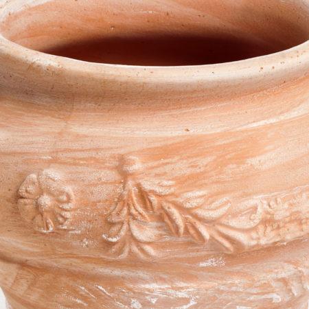 TI Storia doniczkaceramiczna bezowa okragla wazon licie kwiaty glowne 1 450x450 - TI Storia <br> okrągła