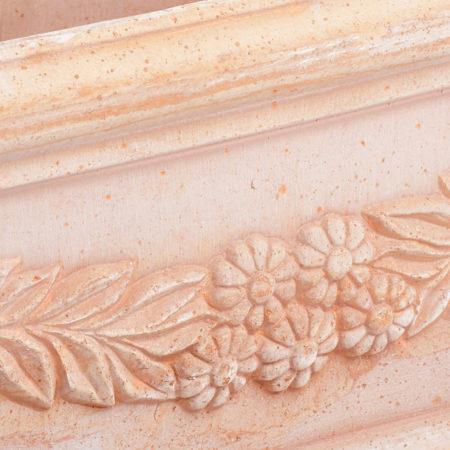 TI Storia doniczkaceramiczna bezowa prostokatna licie kwiaty glowne 1 450x450 - TI Storia <br> prostokątna