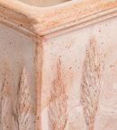 TI Toscana doniczkaceramiczna bezowa kwadratowa cyprysy glowne 1 130x145 - TI Toscana <br> zestaw trzech doniczek